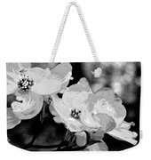 Dogwood Blossoms - Black And White Weekender Tote Bag