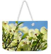 Dogwood Flowers Art Prints Canvas White Dogwood Tree Blue Sky Weekender Tote Bag