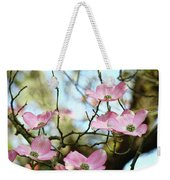 Dogwood Flowers Pink Dogwood Tree Landscape 9 Giclee Art Prints Baslee Troutman Weekender Tote Bag