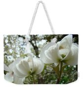 Dogwood Flowers White Dogwood Trees Blossoming 8 Art Prints Baslee Troutman Weekender Tote Bag