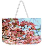 Dogwood Tree Landscape Pink Dogwood Flowers Art Weekender Tote Bag