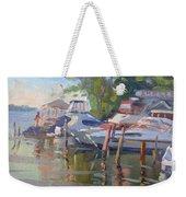 Docks At The Shores  Weekender Tote Bag