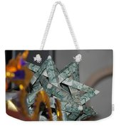Dollar Origami Weekender Tote Bag