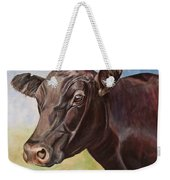 Dolly The Angus Cow Weekender Tote Bag