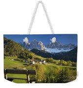 Dolomites View Weekender Tote Bag