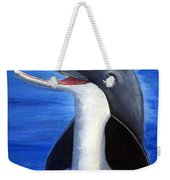 Dolphin Laughing Weekender Tote Bag
