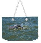 Dolphin Race Weekender Tote Bag