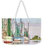 Dolphin Tail - Docked Shrimp Boats Weekender Tote Bag