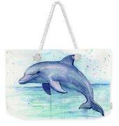 Dolphin Watercolor Weekender Tote Bag