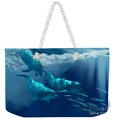 Dolphin World Weekender Tote Bag by Corey Ford