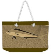 Dolphinfish In Sepia Tones Weekender Tote Bag