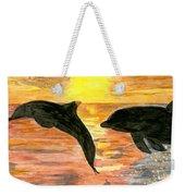 Dolphins Weekender Tote Bag