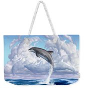 Dolphonic Symphony Weekender Tote Bag by Jerry LoFaro