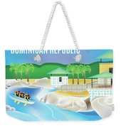 Dominican Republic Horizontal Scene Weekender Tote Bag