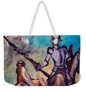 Don Quixote With Windmill Weekender Tote Bag