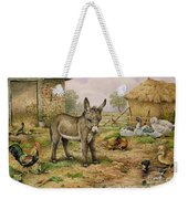 Donkey And Farmyard Fowl  Weekender Tote Bag