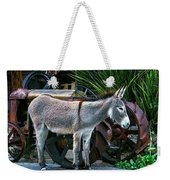 Donkey And Old Tractor Weekender Tote Bag