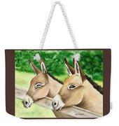 Donkey Duo Weekender Tote Bag