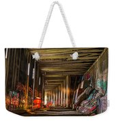 Donner Snow Sheds 8 - Ghosting Weekender Tote Bag by Jim Thompson