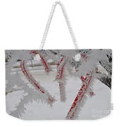 Don't Break My Heart-unique And Rare Formation Of Spiked Snow Icicles  Weekender Tote Bag