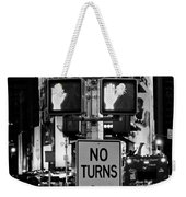 Don't Walk At Times Square Weekender Tote Bag