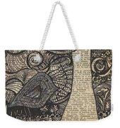 Doodle Bird Weekender Tote Bag