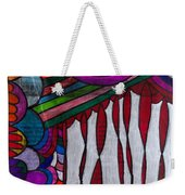 Doodle Page 6 - Bones And Curtains - Ink Abstract Weekender Tote Bag