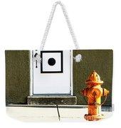 Door And Orange Hydrant  Weekender Tote Bag