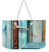 Door Handle Weekender Tote Bag by Carlos Caetano