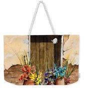 Door With Flower Pots Weekender Tote Bag