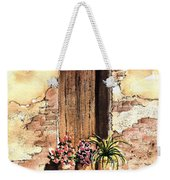 Door With Flowers Weekender Tote Bag