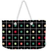 Dotted Grid Weekender Tote Bag