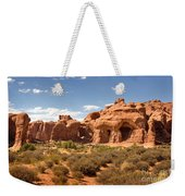 Double Arch Famous Landmark In Arches National Park Utah Weekender Tote Bag