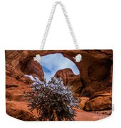 Double Arch Winter Weekender Tote Bag