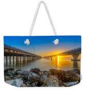 Double Bridge Sunrise - Tampa, Florida Weekender Tote Bag