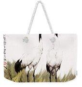 Double Crane Weekender Tote Bag