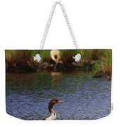 Double-crested Cormorant 2q Weekender Tote Bag