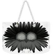 Double Daisy Noir Weekender Tote Bag