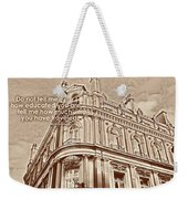 Double Decker View Quote Weekender Tote Bag