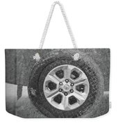 Double Exposure Manhole Cover Tire Holga Photography Weekender Tote Bag