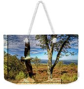Double Exposure Osprey And High Point Nj Weekender Tote Bag