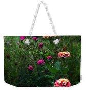 Double Framed Floral Weekender Tote Bag