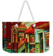Double Hook Book Nook Weekender Tote Bag