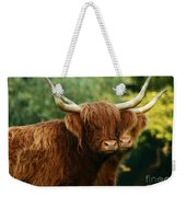 Double Horny Portrait Weekender Tote Bag