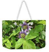 Double Passion Flowers Weekender Tote Bag