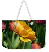 Double Petal Yellow Tulip Weekender Tote Bag