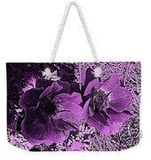 Double Poppies In Purple Weekender Tote Bag
