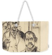 Double Portrait With Skeleton (doppelbildnis Mit Skelett) Weekender Tote Bag