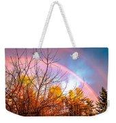 Double Rainbow-hdr Weekender Tote Bag
