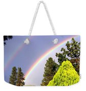 Double Rainbow Weekender Tote Bag